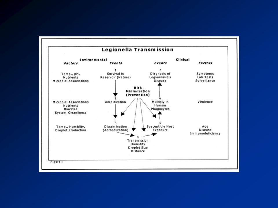 Legionella'nın Dezenfeksiyon Metotları Lokal Ultraviyole Ani/anında ısıtma Sistemik Termal sonlandırma Bakteriostatik veya bakterisit uygulaması (Hiperklorinasyon veya Bakır- gümüş iyonizasyonu)