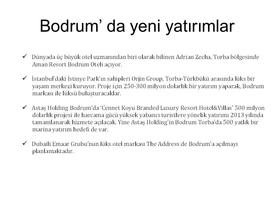 Bodrum' da yeni yatırımlar