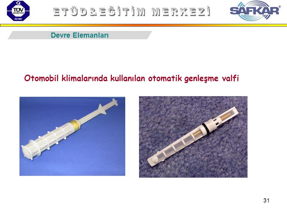 31 Otomobil klimalarında kullanılan otomatik genleşme valfi Devre Elemanları