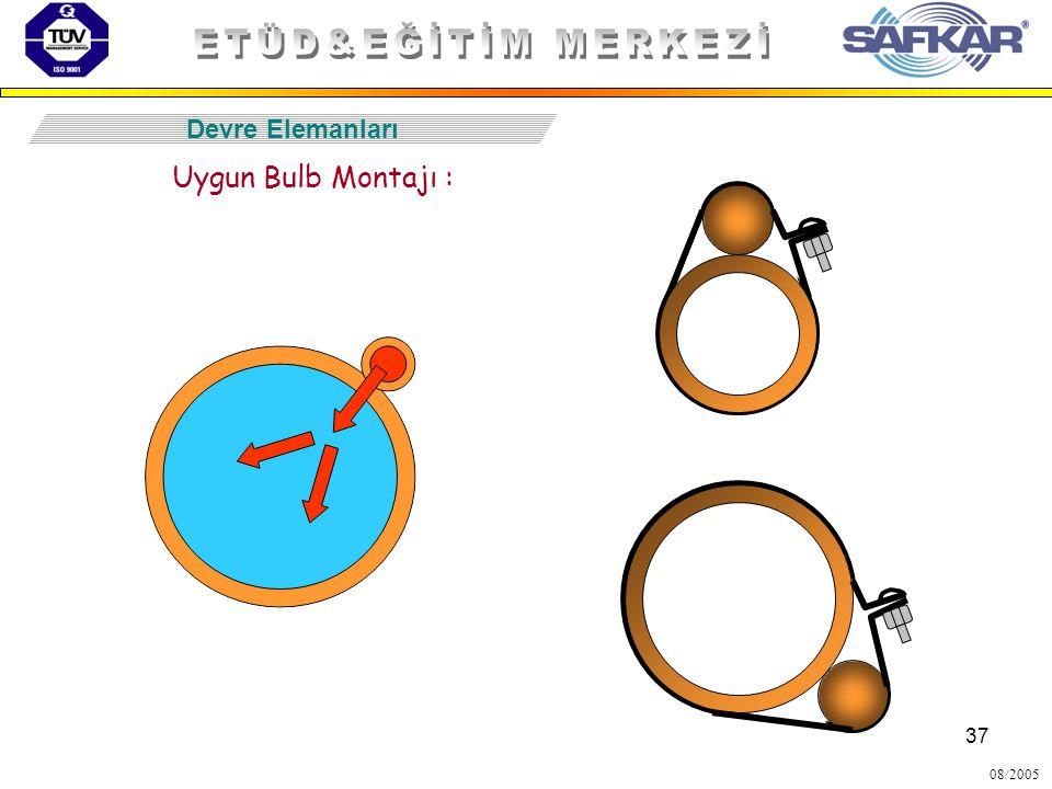 37 08/2005 Devre Elemanları Uygun Bulb Montajı :