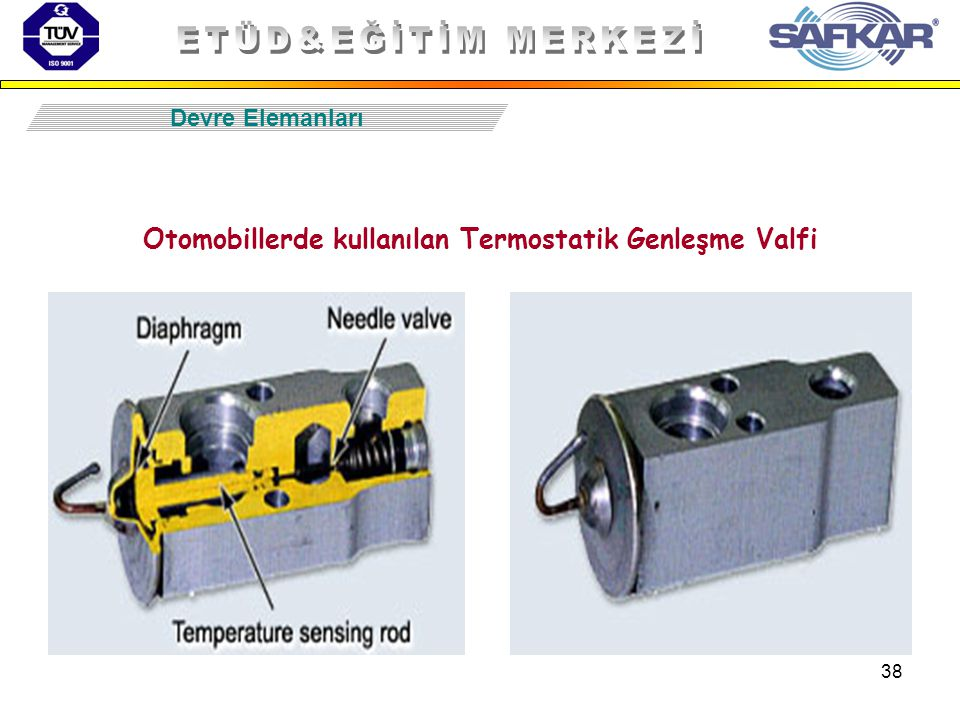 38 Devre Elemanları Otomobillerde kullanılan Termostatik Genleşme Valfi