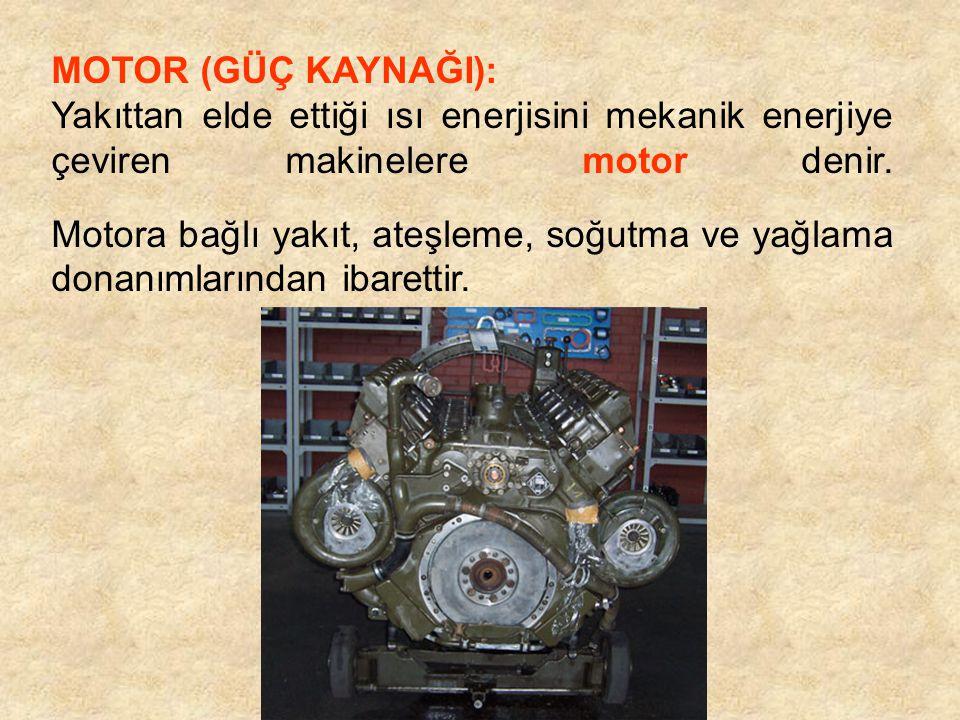 Distribütör: Endüksiyon bobininden gelen yüksek voltajı ateşleme sırasına göre bujilere dağıtan parçadır.