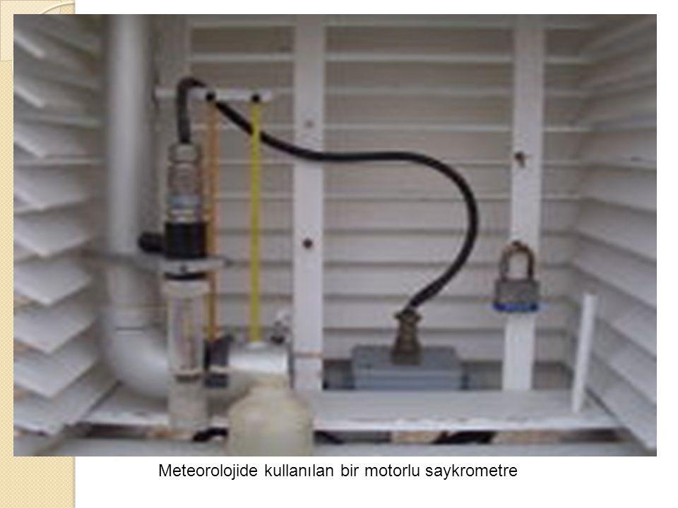 Meteorolojide kullanılan bir motorlu saykrometre