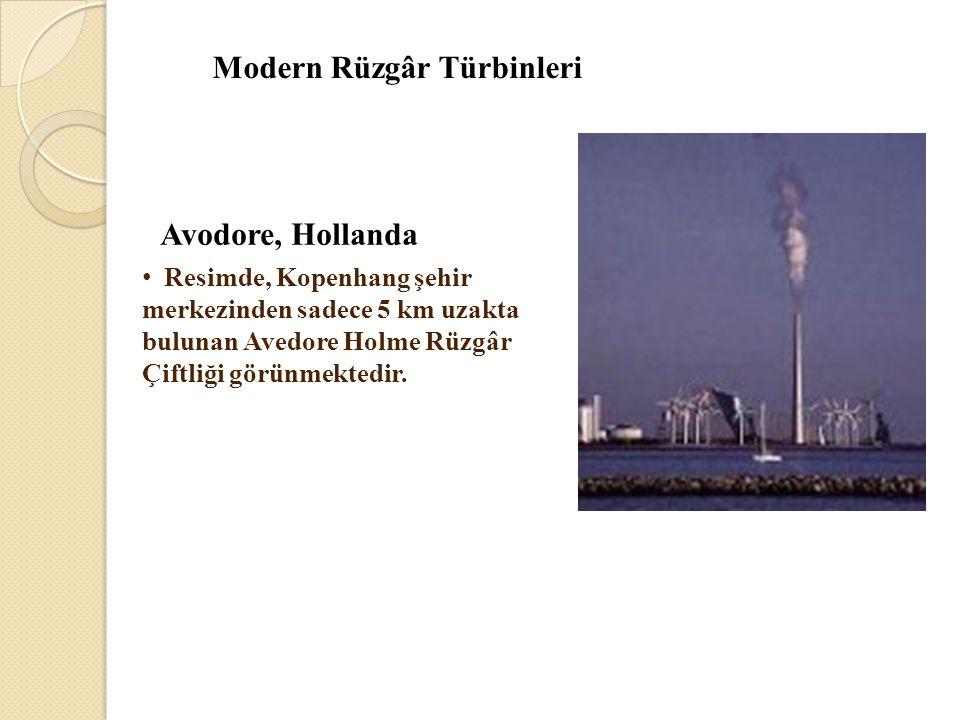 Modern Rüzgâr Türbinleri Avodore, Hollanda • Resimde, Kopenhang şehir merkezinden sadece 5 km uzakta bulunan Avedore Holme Rüzgâr Çiftliği görünmekted