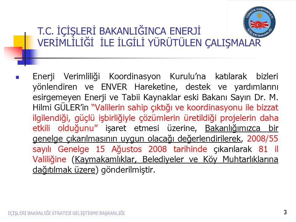 14  16 Nisan 2009 Tarihinde Ankara'da düzenlenen ENVER Çocuk Şenliğine Bakanlığımız adına katılım sağlanmış, İllerin ENVER Hareketine katkılarından dolayı geleceğimize yönelik başarılı çalışmaları nedeniyle Enerji ve Tabii Kaynaklar Bakanı Sayın Dr.