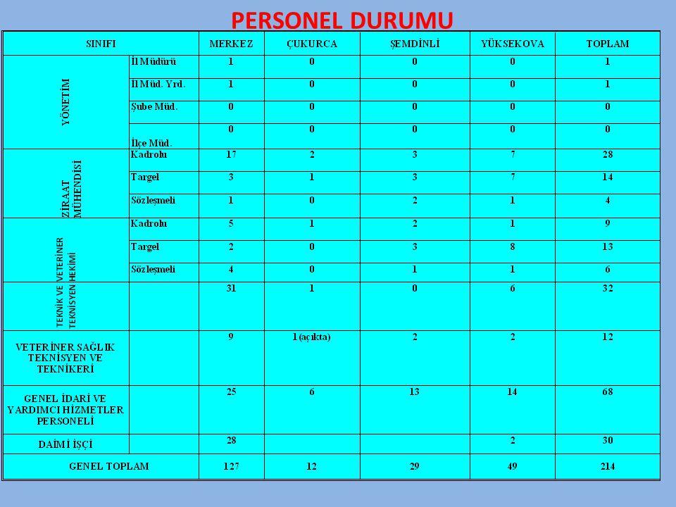 PERSONEL DURUMU