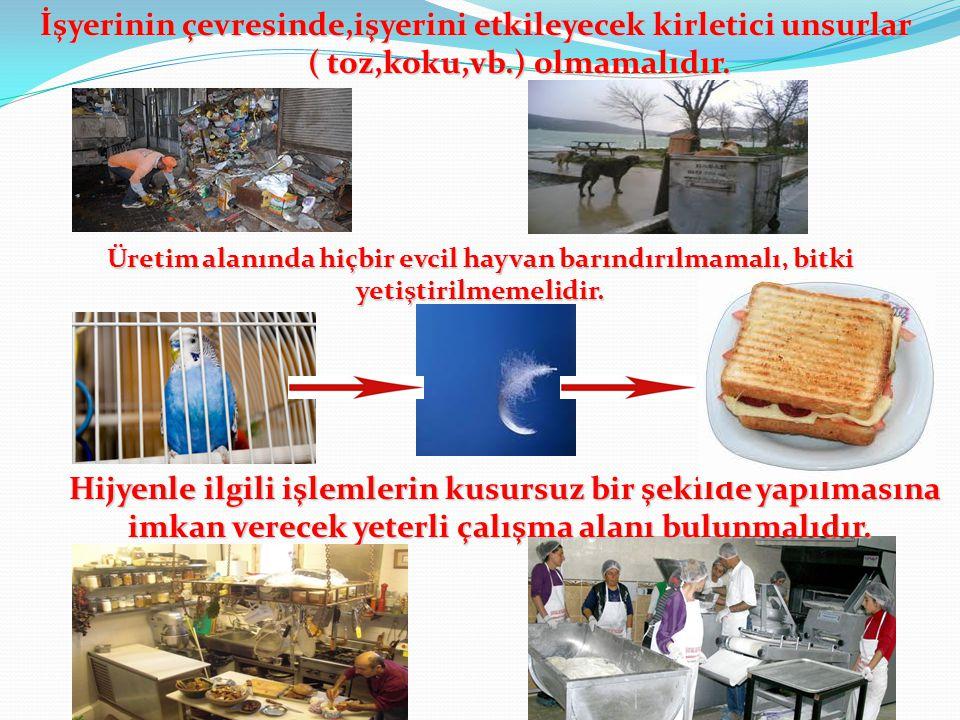 Gıda İşletmelerinin Özel Hijyen Gereklilikleri (madde 5)  Yerleşimi  Tasarımı  İnşası  Kullanımı  Büyüklüğü  Yerleşimi  Tasarımı  İnşası  Kul