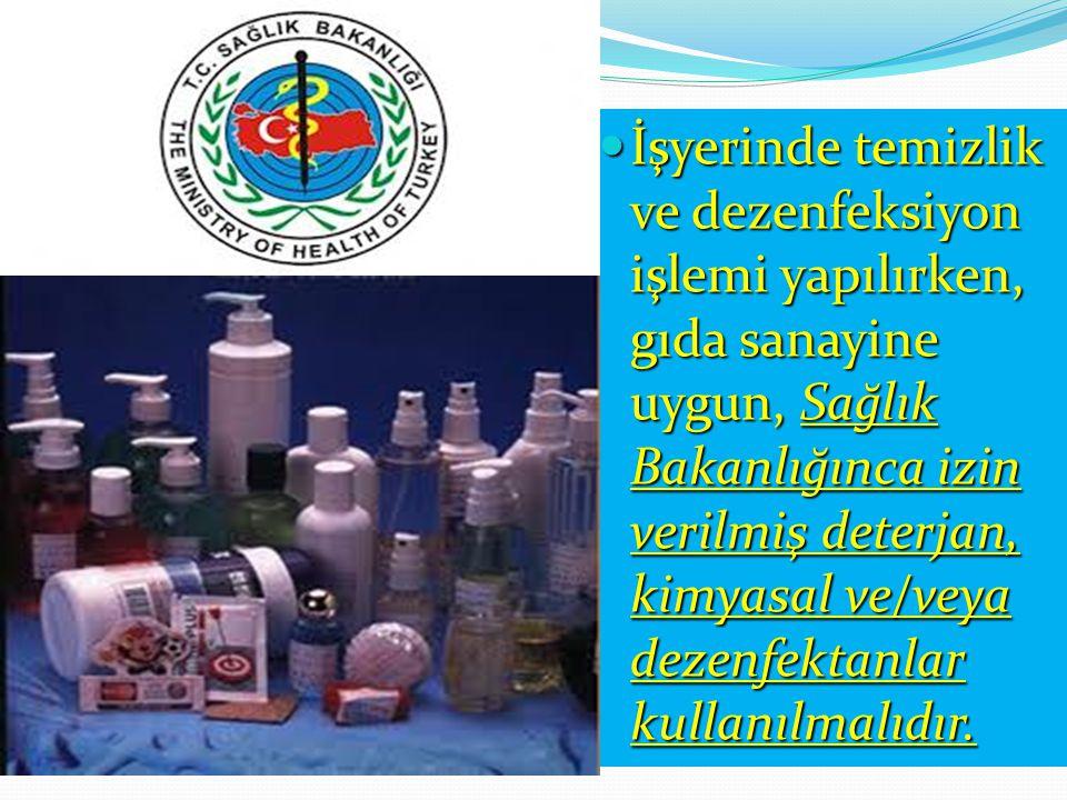 Temizlik ve dezenfeksiyon maddelerinin muhafazası ile ilgili hijyen gereklilikleri-MADDE 13 GIDA MADDELERİNİN BULUNDUĞU ALANLARIN DIŞINDA, UYGUN KAPAL