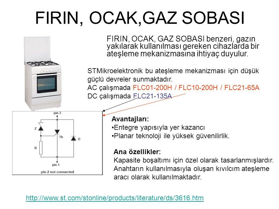 FIRIN, OCAK,GAZ SOBASI FIRIN, OCAK, GAZ SOBASI benzeri, gazın yakılarak kullanılması gereken cihazlarda bir ateşleme mekanizmasına ihtiyaç duyulur. Av