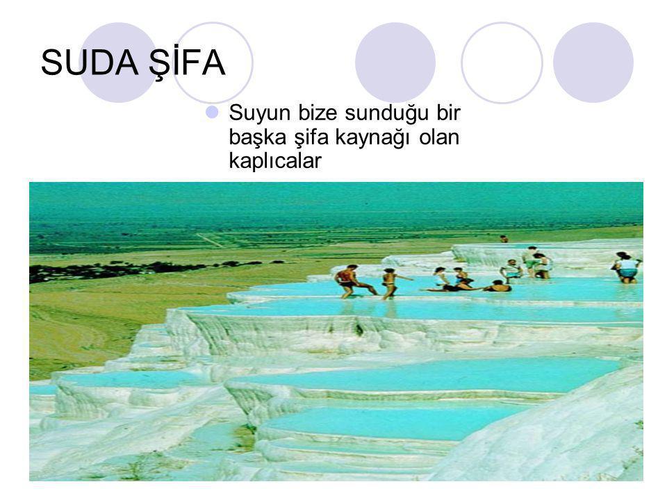 SUDA ŞİFA  Suyun bize sunduğu bir başka şifa kaynağı olan kaplıcalar