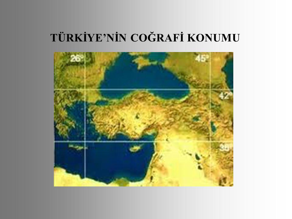TÜRKİYE'NİN COĞRAFİ KONUMU