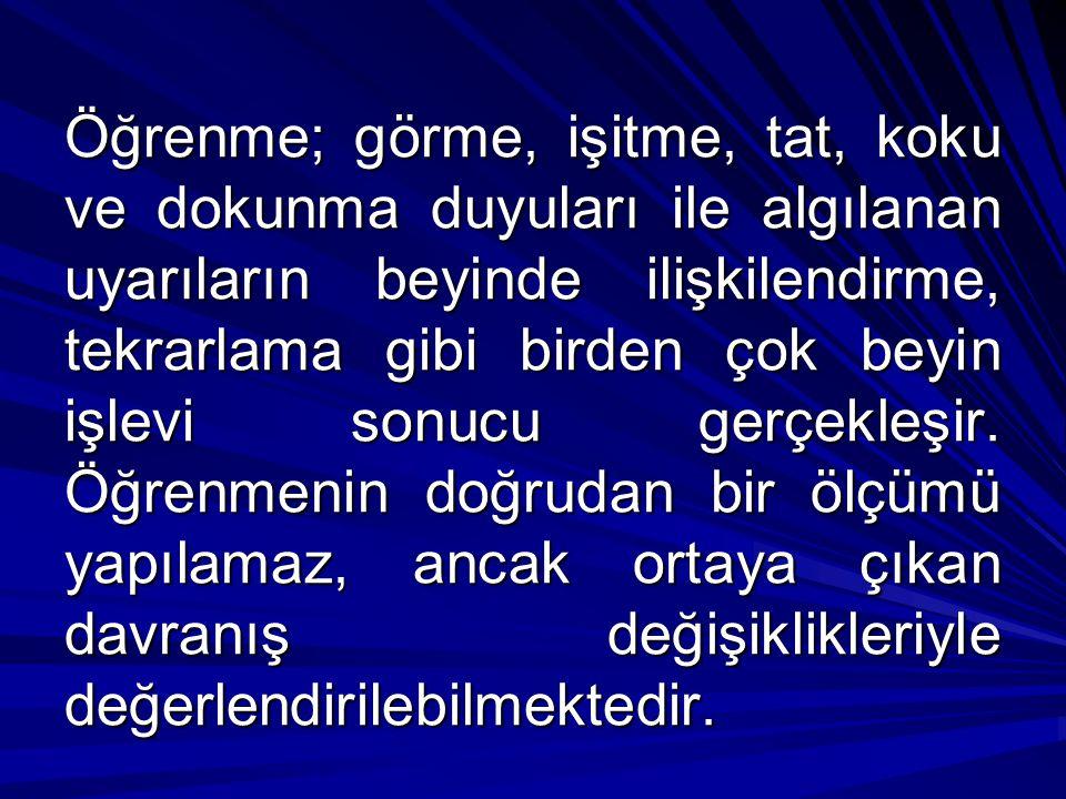 II-BELLEK TİPLERİ NELERDİR.