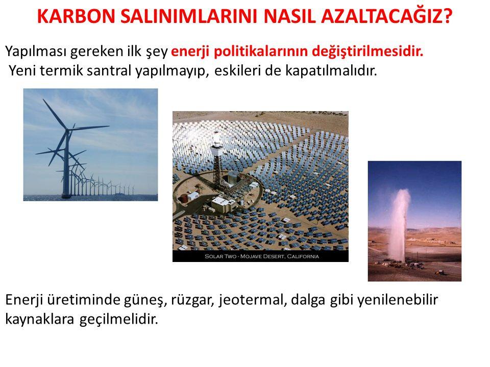 Yapılması gereken ilk şey enerji politikalarının değiştirilmesidir.