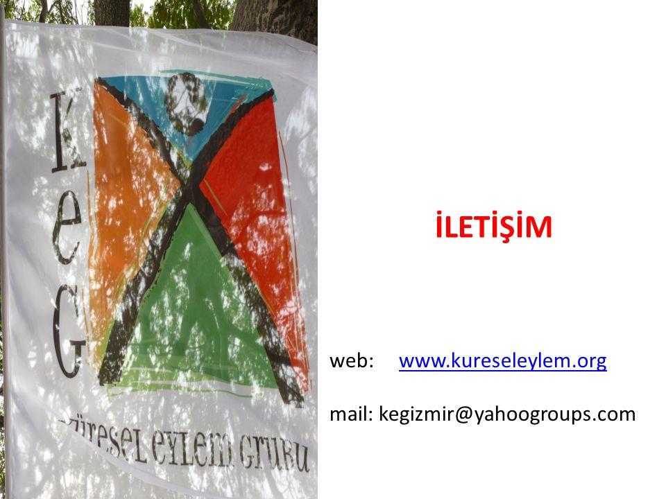 web: www.kureseleylem.orgwww.kureseleylem.org mail: kegizmir@yahoogroups.com İLETİŞİM