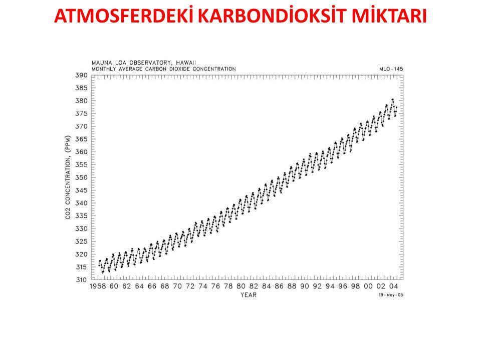 ATMOSFERDEKİ KARBONDİOKSİT MİKTARI