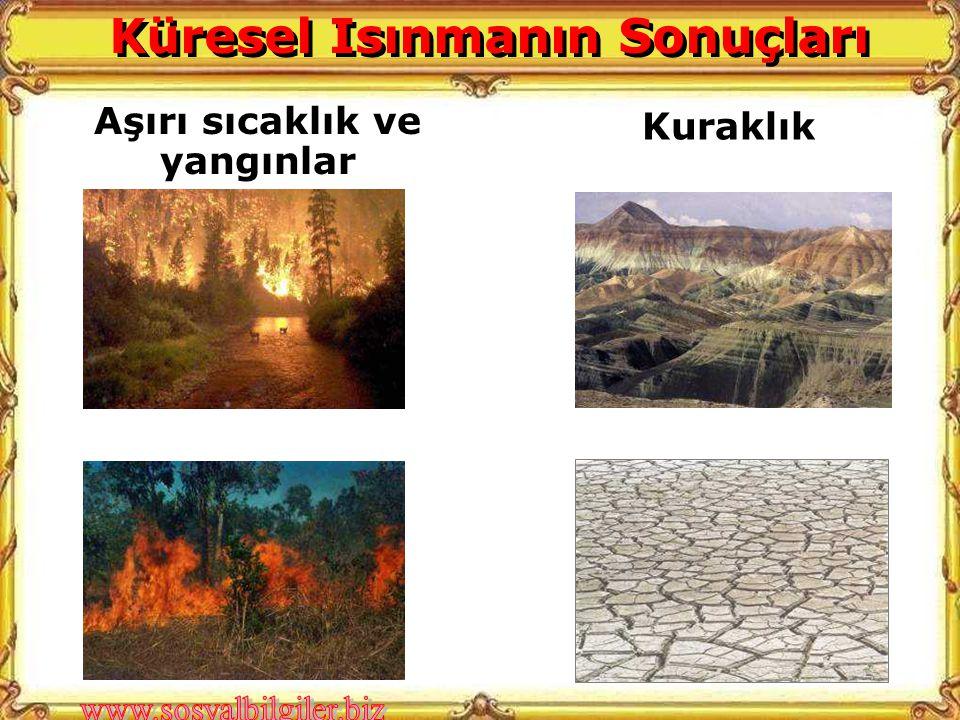Kuraklık Aşırı sıcaklık ve yangınlar Küresel Isınmanın Sonuçları