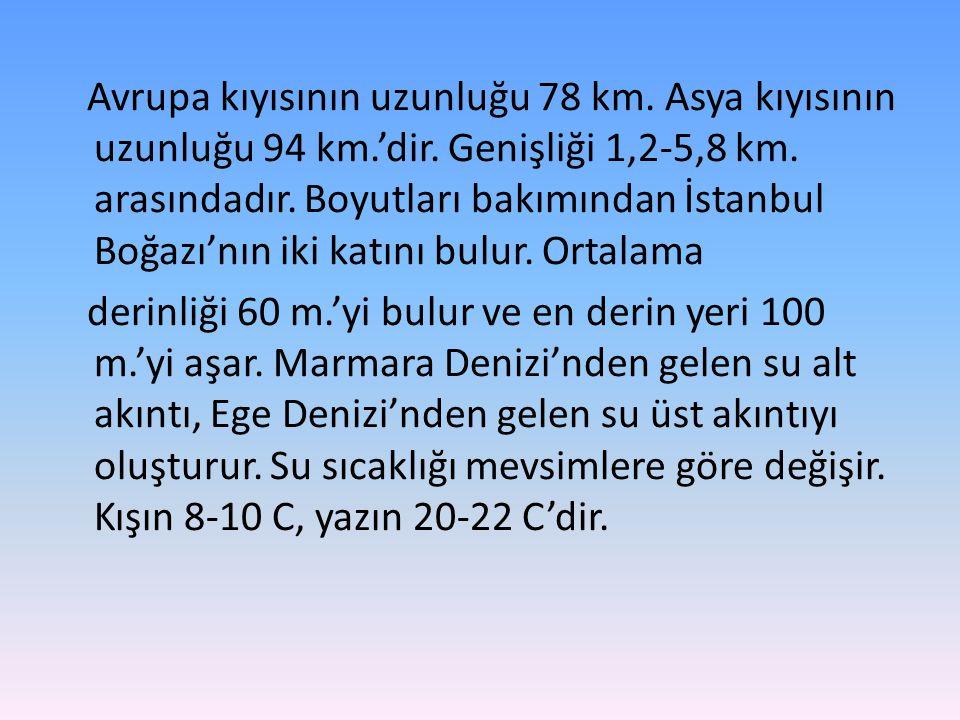 • Boğazın Ulusal Deniz Trafiği ve Taşımacılığındaki Önemi • Türkiye'de deniz yolu ile yük ve yolcu taşımacılığı henüz gelişmemiş olduğundan, Çanakkale boğazının Ulusal deniz trafiği ve taşımacılığındaki rolü oldukça önemsizdir.