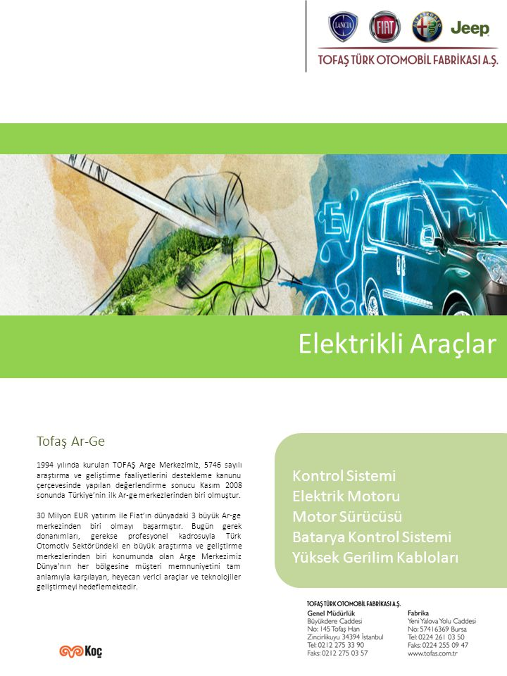 Elektrikli Araç Elektrikli araçlarda, fosil kaynaklı araçların aksine, kullanım esnasında egzoz gazlarının yayınımı %0'dır.