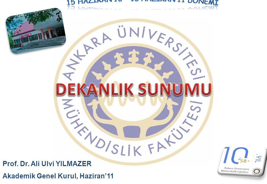 Prof. Dr. Ali Ulvi YILMAZER Akademik Genel Kurul, Haziran'11