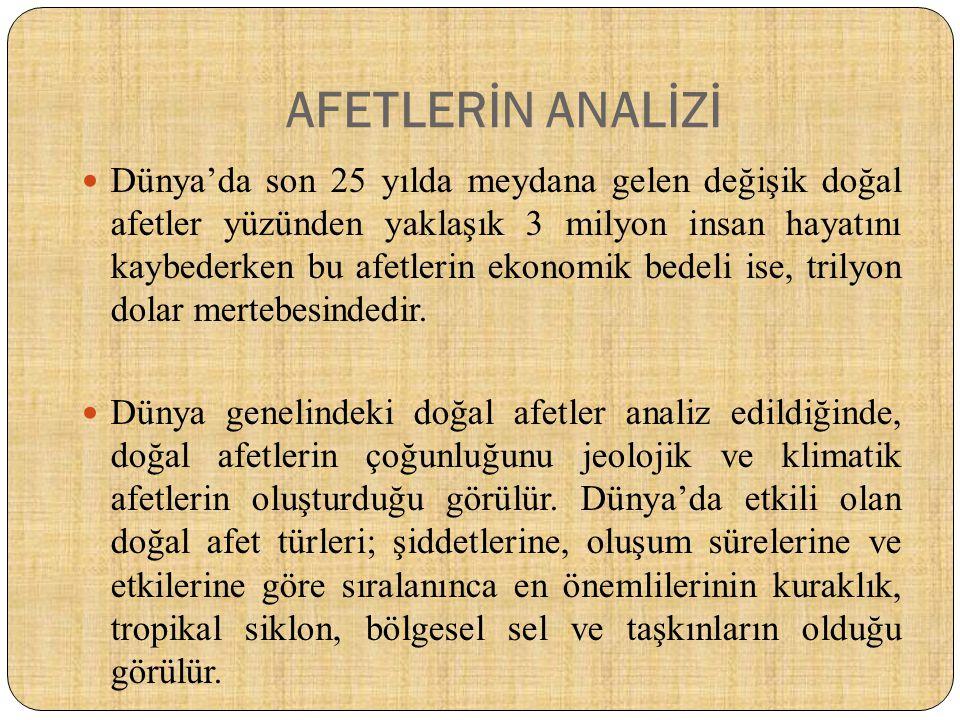 AFET SONRASI LOJİSTİK YÖNETİMİ  Türkiye'de mevcutta yürürlükte olan mevzuat (kanun, kararname ve yönetmelikler) bu konuda yetersizdir.