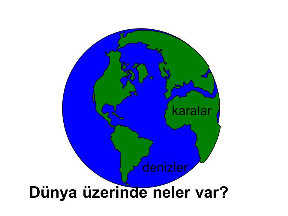 Dünya' mızın üzerinde Karalar ve Denizler vardır.