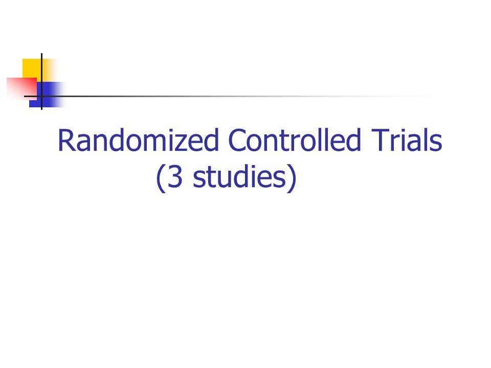 Randomized Controlled Trials (3 studies)