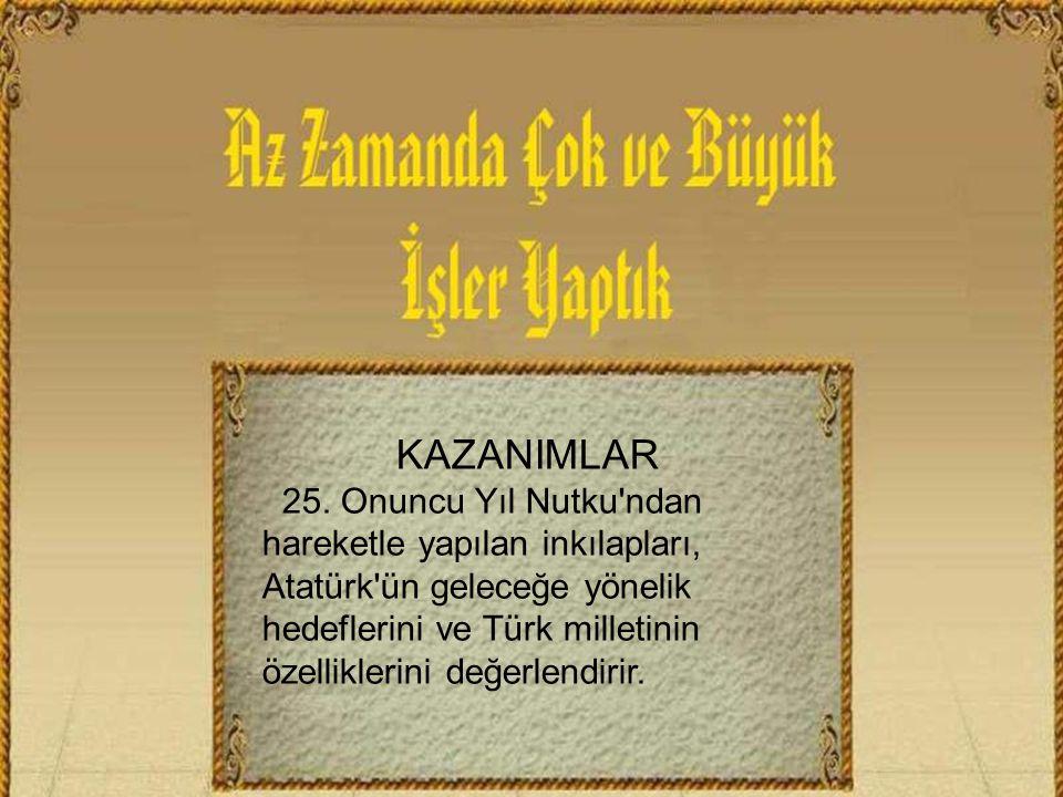 KAZANIMLAR 25.