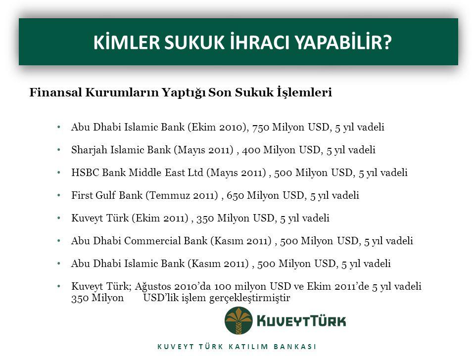 YENİ YASAL ÇERÇEVE: KİRA SERTİFAKALARI KUVEYT TÜRK KATILIM BANKASI  Türkiye'de Sermaye Piyasası Kurulu (SPK) 1 Nisan 2010 tarihinde Kira Sertifikaları ile ilgili bir Tebliğ yayımladı.