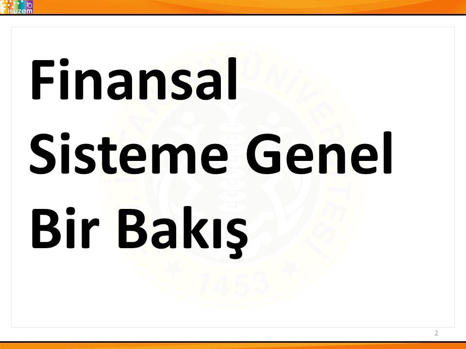 Finansal Sisteme Genel Bir Bakış 2