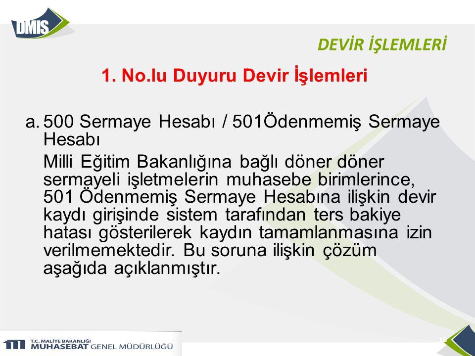 DEVİR İŞLEMLERİ 1.