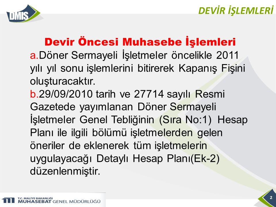 DEVİR İŞLEMLERİ 23