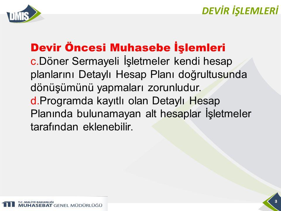 DEVİR İŞLEMLERİ 14