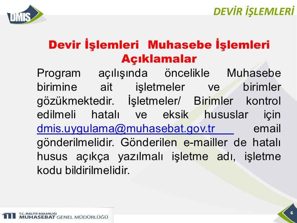 DEVİR İŞLEMLERİ 7