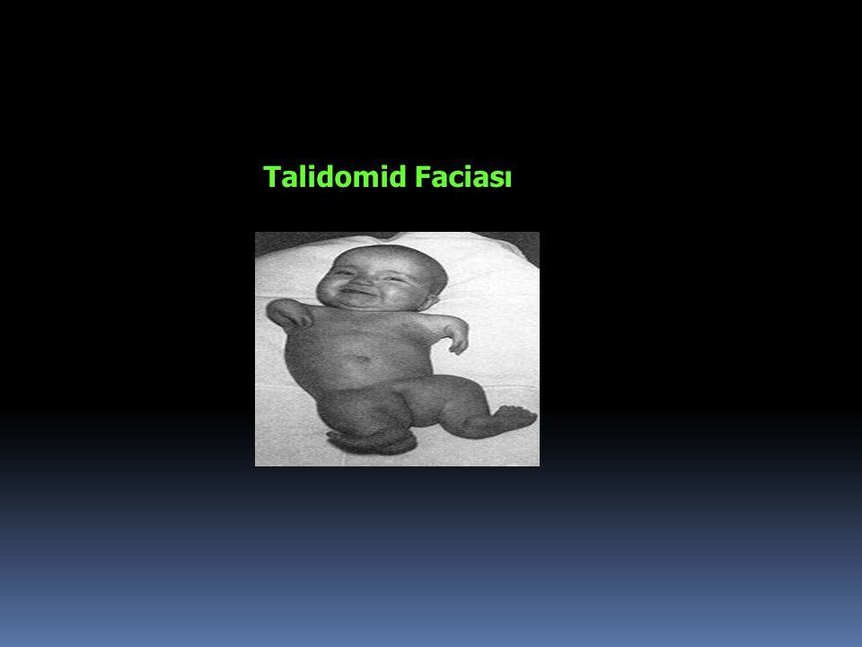 1953 • Almanya'da özellikle gebelik bulantı- kusmalarına karşı kullanılmak üzere talidomid isimli ilaç üretildi • Talidomid uykusuzluk, depresyon ve gebelik bulantı kusmalarına karşı 'mucize ilaç' olarak tanındı