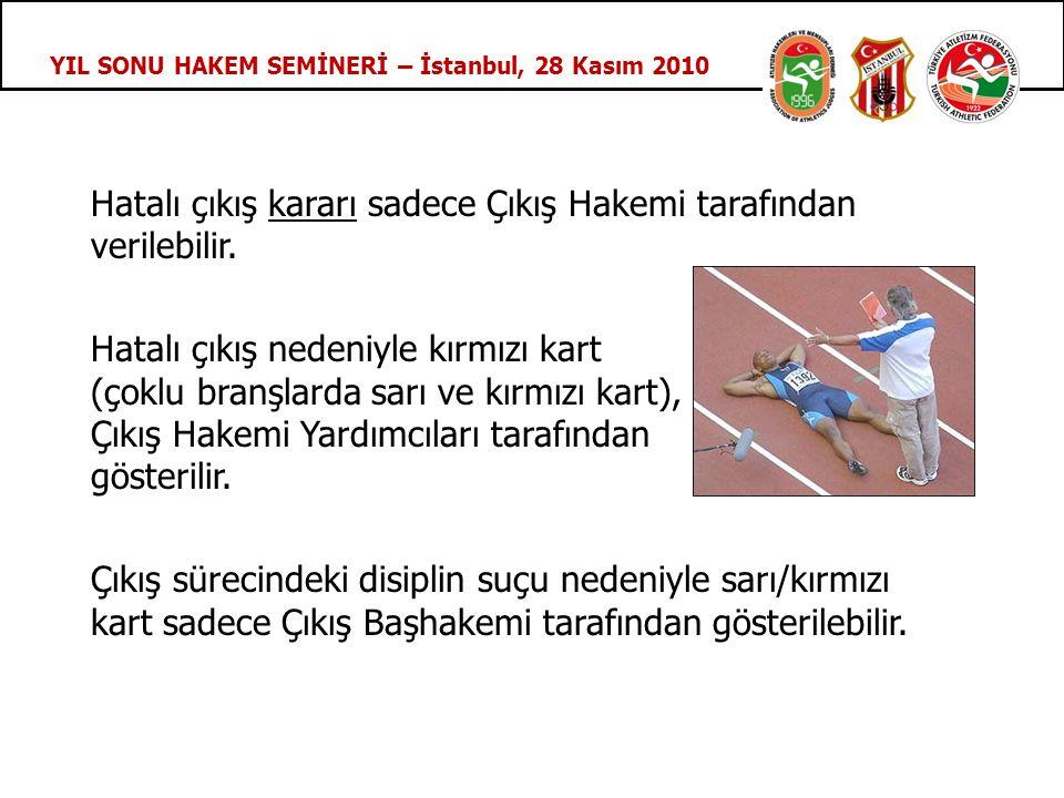 YIL SONU HAKEM SEMİNERİ – İstanbul, 28 Kasım 2010 Hatalı çıkış kararı sadece Çıkış Hakemi tarafından verilebilir.