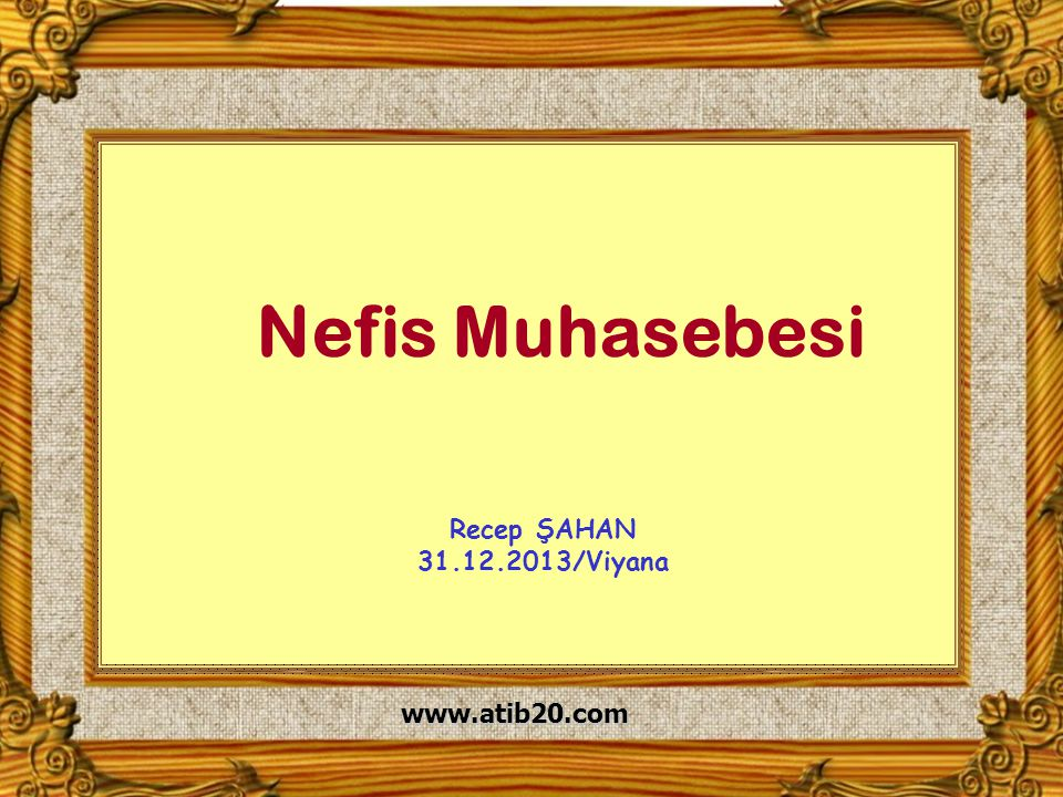 1 www.atib20.com Nefis Muhasebesi Recep ŞAHAN 31.12.2013/Viyana