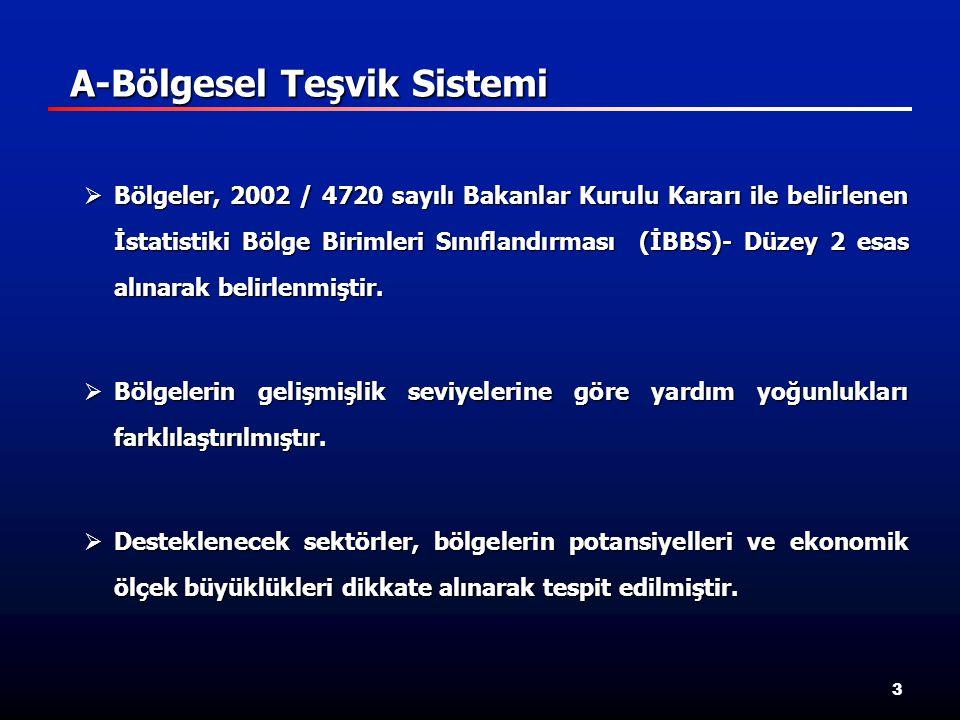 3  Bölgeler, 2002 / 4720 sayılı Bakanlar Kurulu Kararı ile belirlenen İstatistiki Bölge Birimleri Sınıflandırması (İBBS)- Düzey 2 esas alınarak belirlenmiştir.