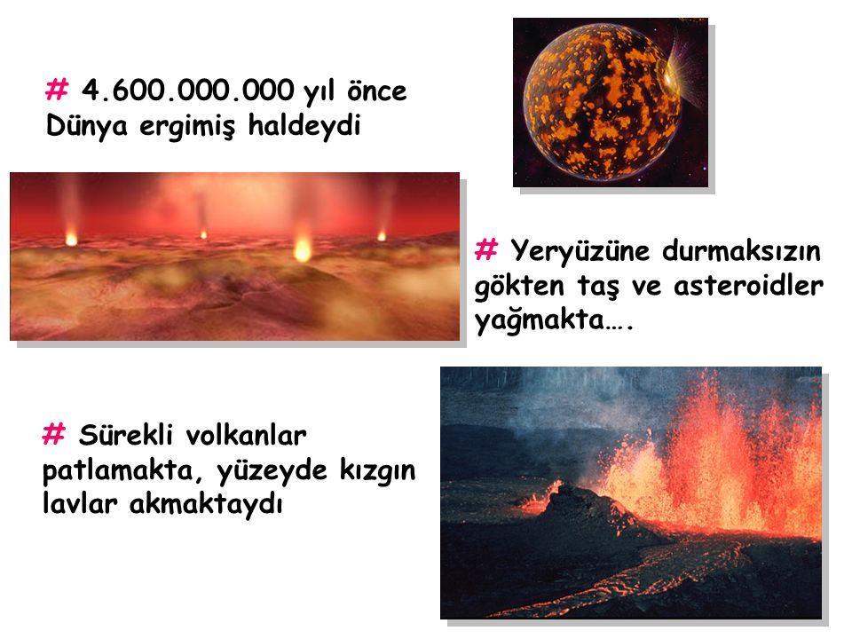 Yaklaşık 4.600.000.000 yıl önce… Cehennemi koşulların hüküm sürdüğü bir gezegen…….. DÜNYA