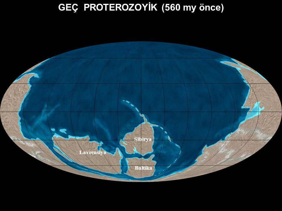 GEÇ PROTEROZOYİK (600 my önce ) http://www4.nau.edu/geology/master.html?http://www4.nau.edu/geology/blakey.html