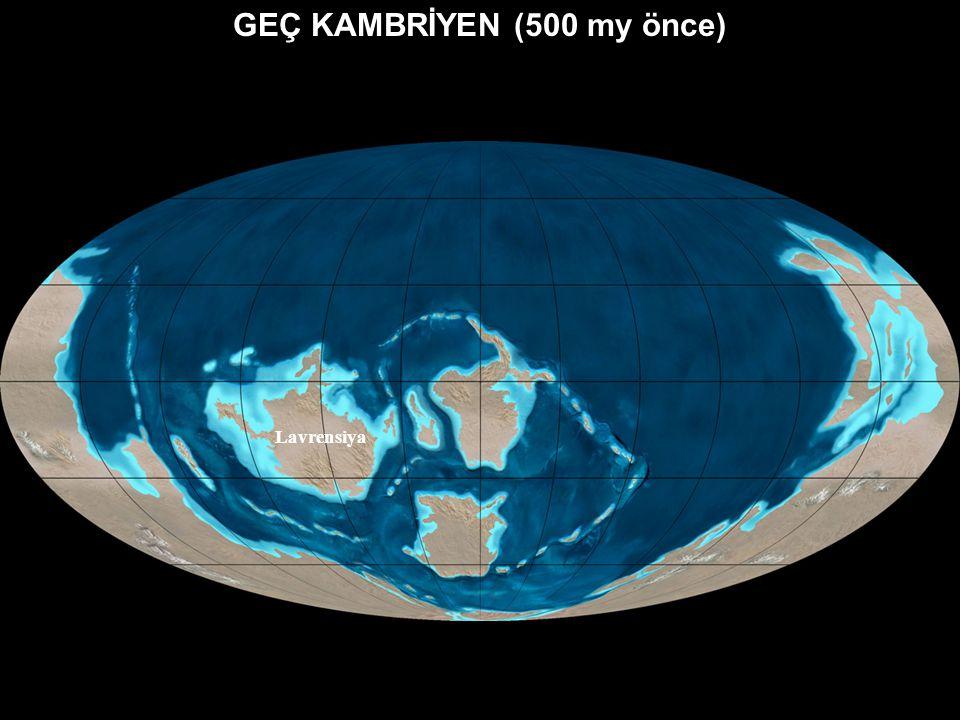 ERKEN KAMBRİYEN (540 my önce) Lavrensiya Sibirya Baltika