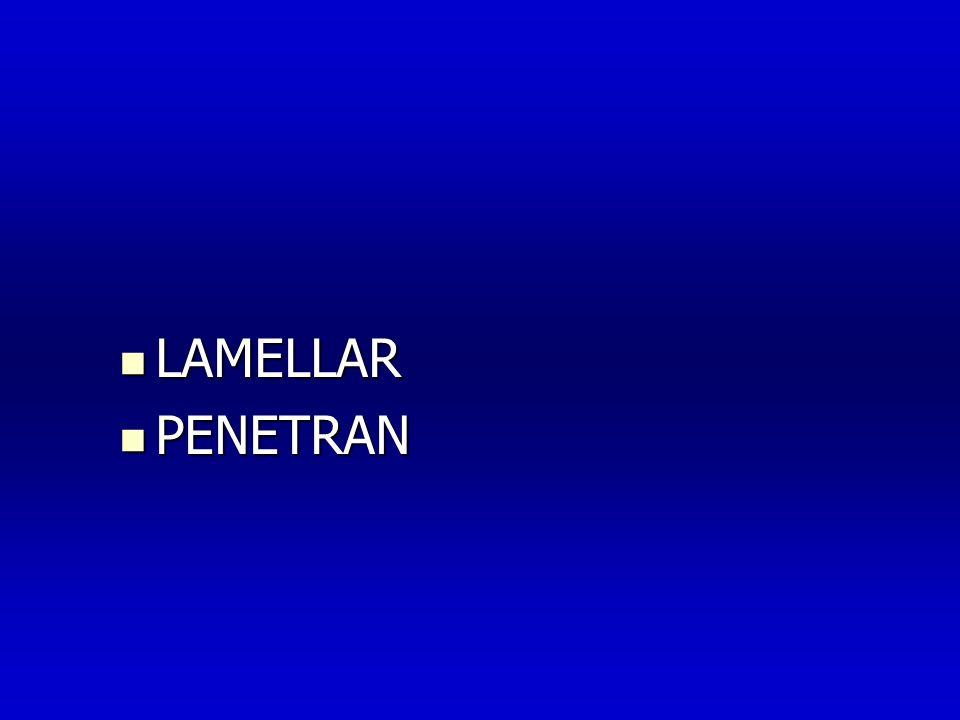  LAMELLAR  PENETRAN