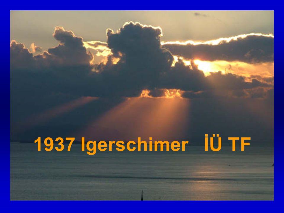 1937 Igerschimer İÜ TF