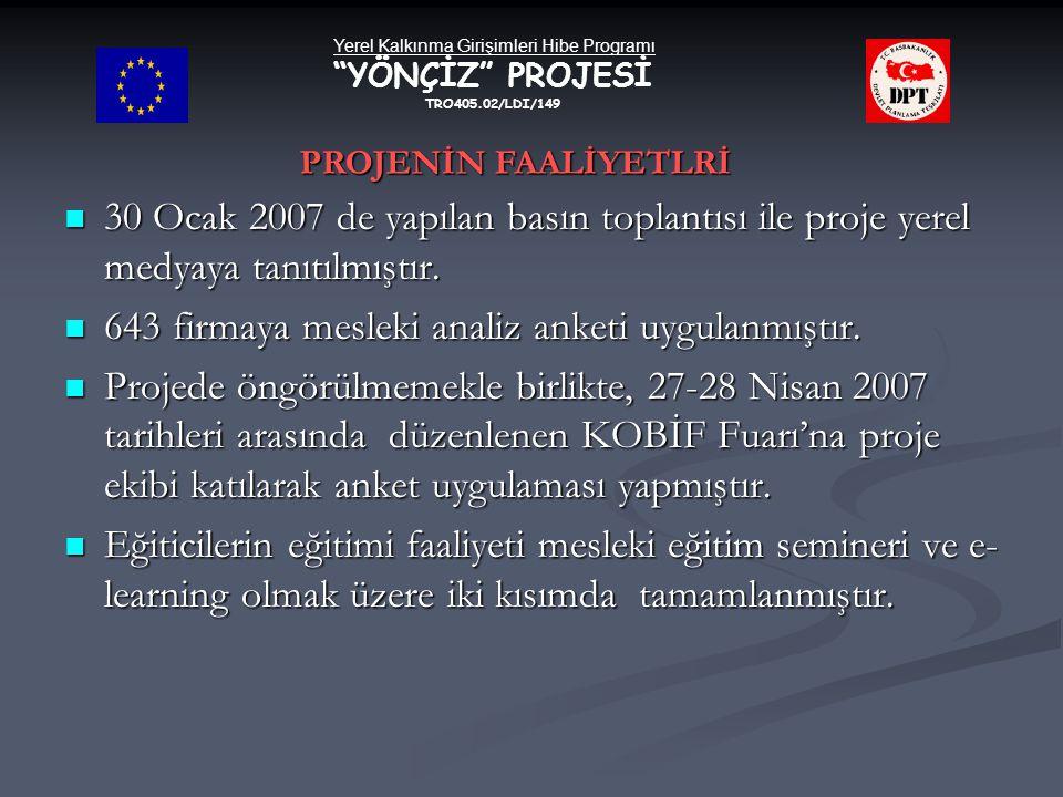 Yerel Kalkınma Girişimleri Hibe Programı YÖNÇİZ PROJESİ TRO405.02/LDI/149  30 Ocak 2007 de yapılan basın toplantısı ile proje yerel medyaya tanıtılmıştır.