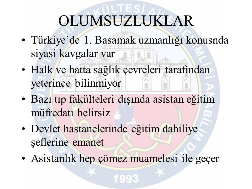 OLUMSUZLUKLAR •Türkiye'de 1.