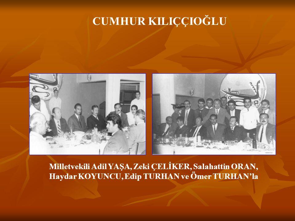 CUMHUR KILIÇÇIOĞLU Devlet Başkanı Orgeneral Kenan EVREN'le Başbakan Süleyman DEMİREL'le