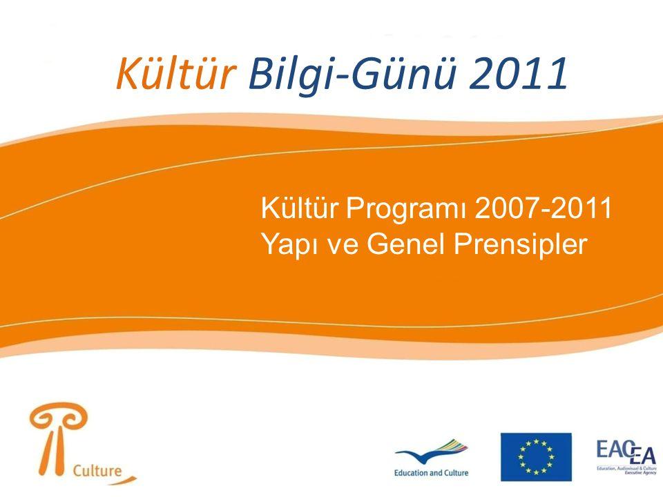 Kültür Bilgi-Günü 2011 Kültür Programı 2007-2011 Yapı ve Genel Prensipler Kültür Bilgi-Günü 2011
