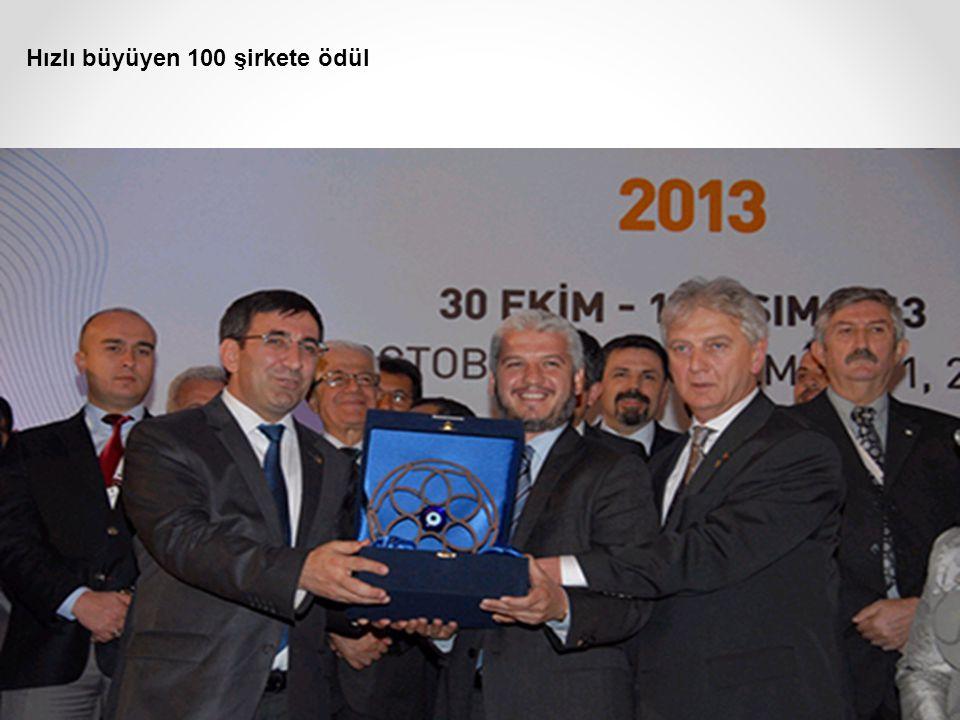 Hızlı büyüyen 100 şirkete ödül