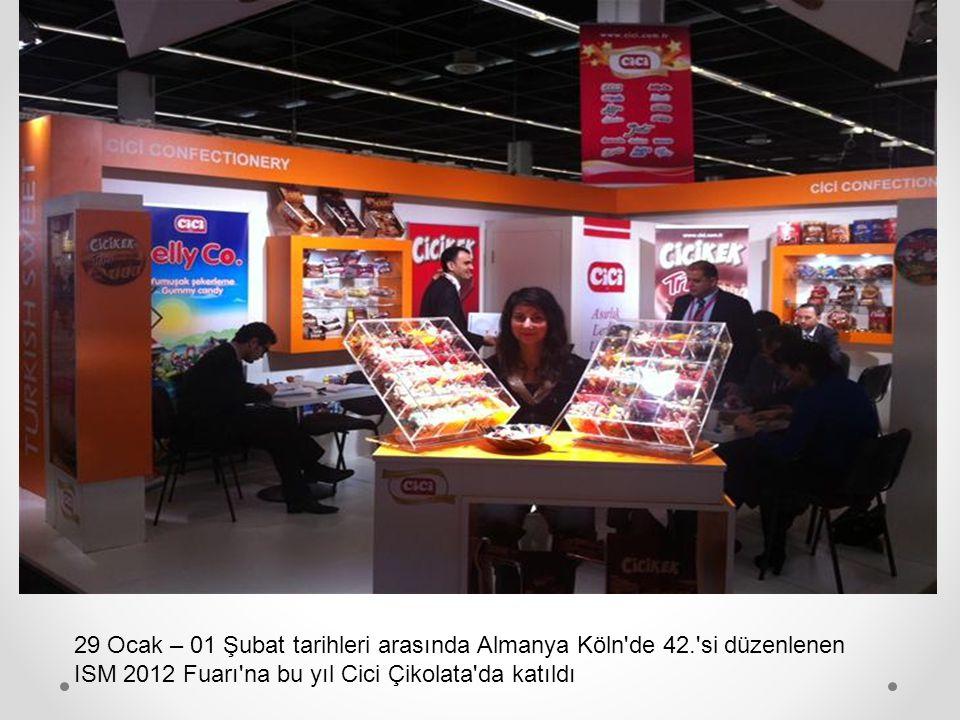 29 Ocak – 01 Şubat tarihleri arasında Almanya Köln de 42. si düzenlenen ISM 2012 Fuarı na bu yıl Cici Çikolata da katıldı