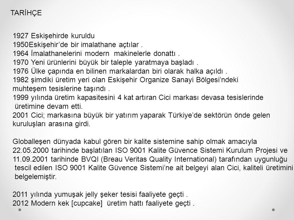 TARİHÇE 1927 Eskişehirde kuruldu 1950Eskişehir'de bir imalathane açtılar.