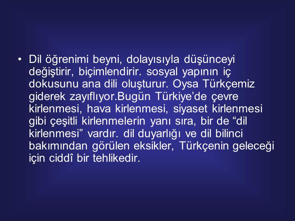 """Türk Edebiyatının tanınmış şairlerinden Yahya Kemal'in """"Türkçe ağzımda annemin sütüdür"""" diyerek yücelttiği, Fazıl Hüsnü Dağlarca'nın ise """"Türkçem beni"""